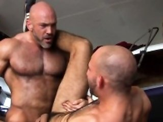 Muscled gay cum...