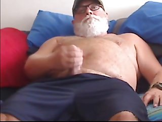 Men (Gay);Bears (Gay);Daddies (Gay);Masturbation (Gay) silver dad cum