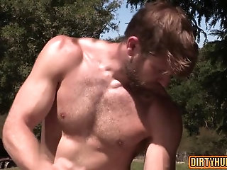 Anal,Outdoors,Threesome,bear,facial,muscle,gay Muscle bear...