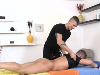 Blowjob (Gay),Gays (Gay),Massage (Gay),Muscle (Gay) Raucous massage...