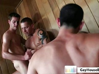 gay Hot Sauna Orgy