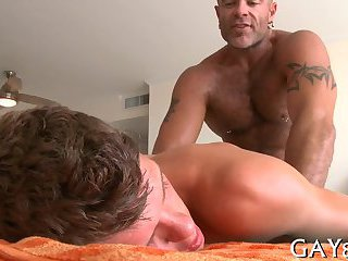 gay Deep tonguing for...